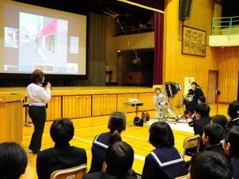 【交通安全教室】当教習所で初、中学校での交通安全教室を行いました