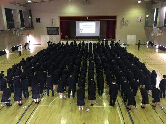 【交通安全教室】葛飾野高校で交通安全教室を行いました