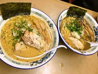 【W限定】亀有どさん子  赤と黒の「豚濃くたまり醤油麺」