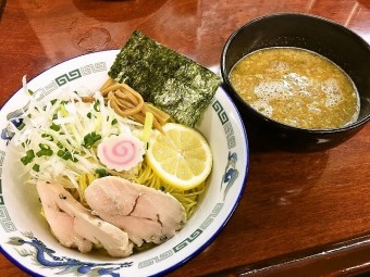 【限定】亀有どさん子  鶏の風味広がる清涼 「比内塩つけ麺」