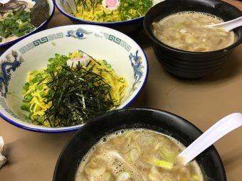 【限定】亀有どさん子「比内醤油つけ麺」  あっさりなのに深いコクと甘み、つけ麺で不思議体験!