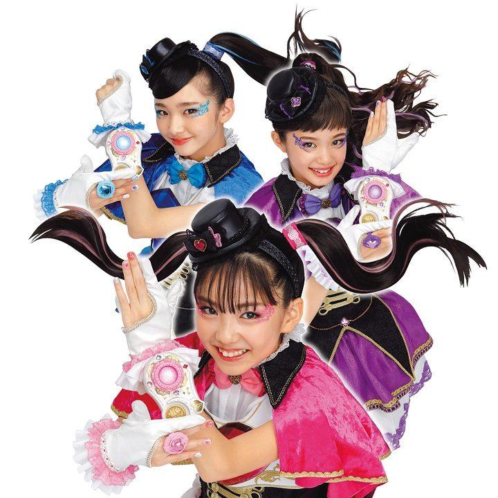 ひみつ戦士ファントミラージュの桜衣ココミ・明日海サキ・紫月ヨツバ