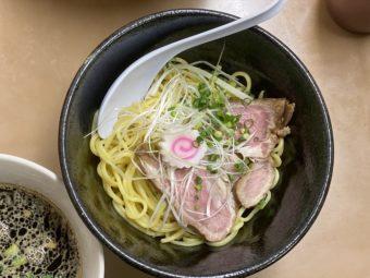 """【限定】""""黒つけ麺""""  混ぜたらキケン!合体超人麺法炸裂の巻"""